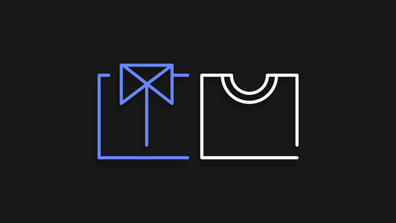 Suit and t-shirt icon