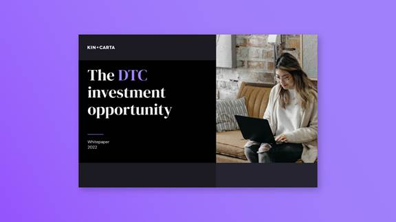 """""""The DTC investment opportunity"""" whitepaper cover"""