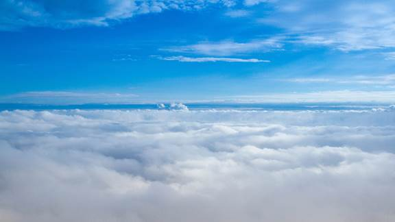 Image of clouds with blue sky