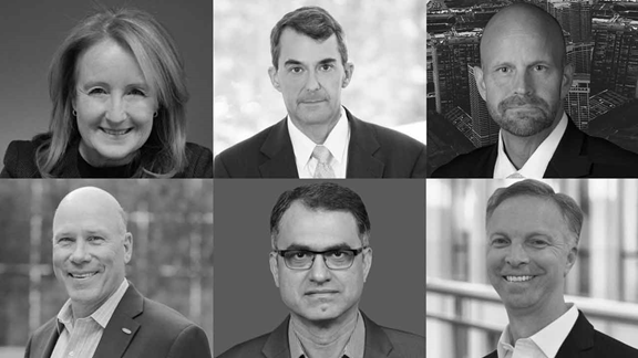 Collection of black and white headshots of CIOs
