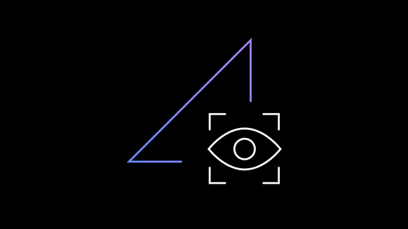Illustration of an eye looking into a triangle