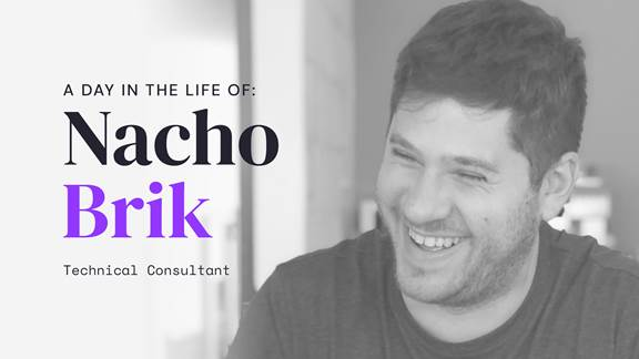 """""""A day in the life of Nacho Brik"""" with image of employee Nacho Brik"""