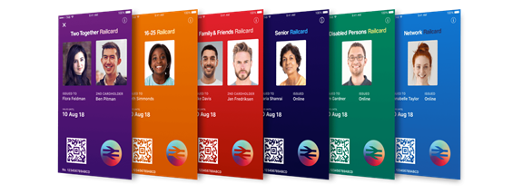 Images of the different railcards