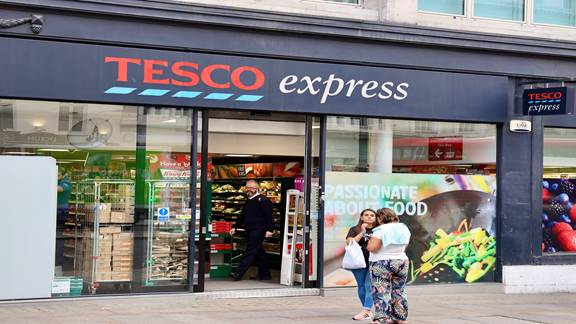 The front of a Tesco express store