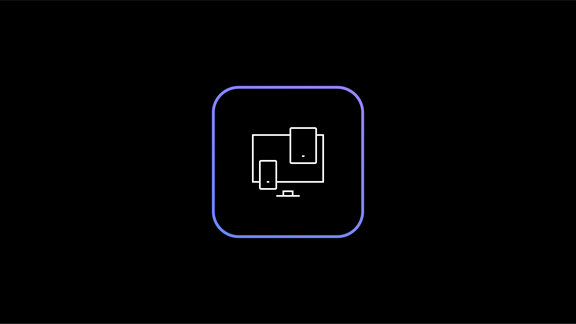 Computer icon in square