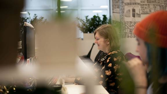 Employees at Kin + Carta Connect office