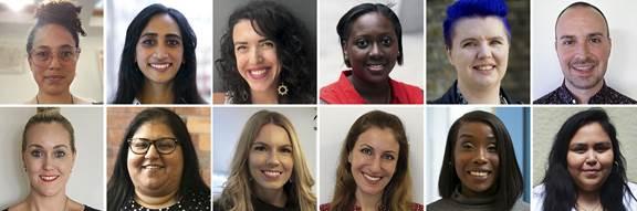 Headshots of diverse employees