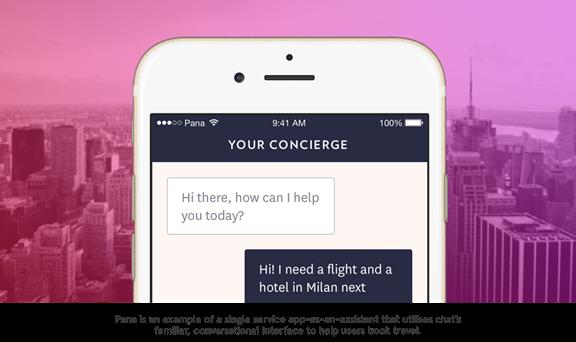 Single service app-as-assistant