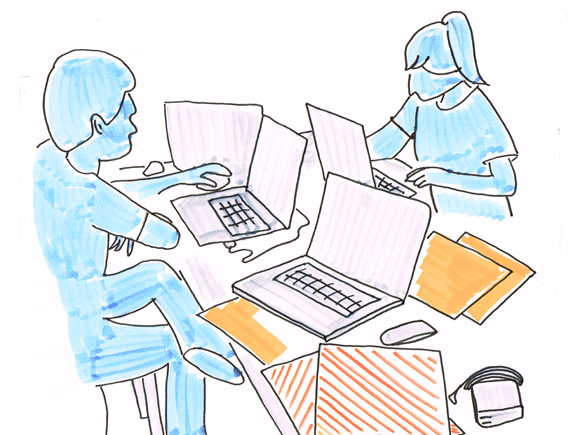 Desk diversity laptop pairing