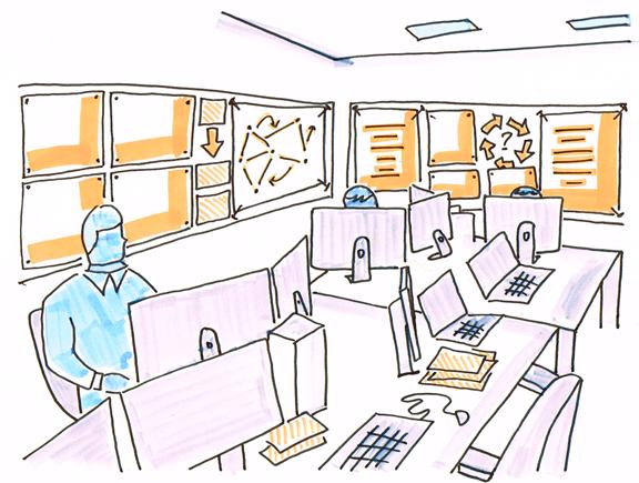 Desk diversity war room