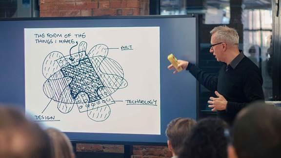 Brendan Dawes IoT workshop at Kin + Carta Create