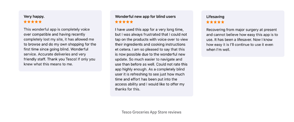 Tesco grocery app - using insights to make a difference