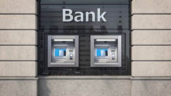 Street facing ATMs of bank branch