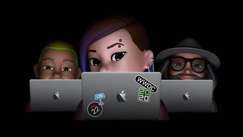 apple avatars at macbooks for wwdc
