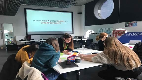 Stefania, a K+C designer teaching students at Ravensbourne