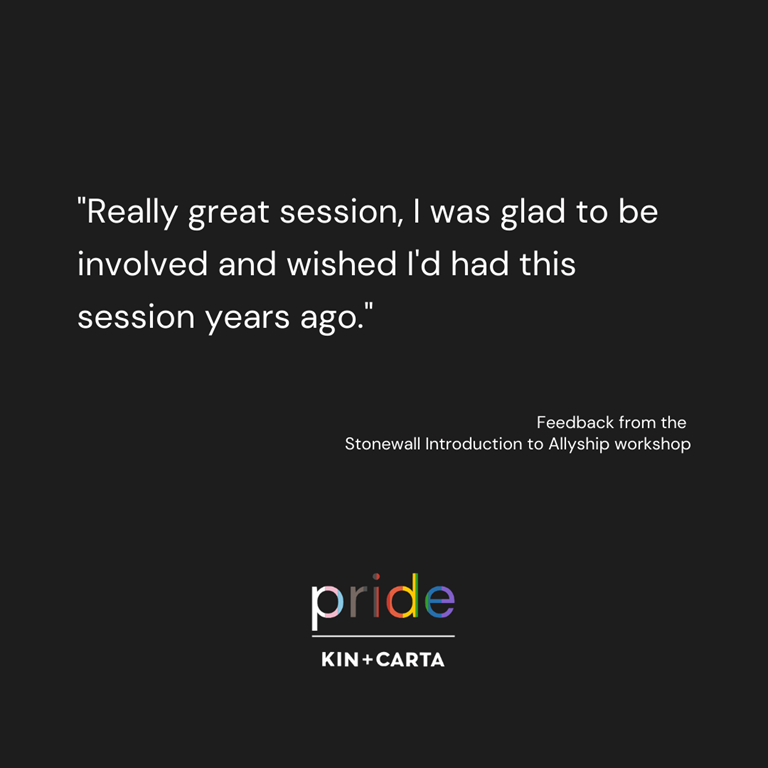 Quote from attendee of the Stonewall workshop