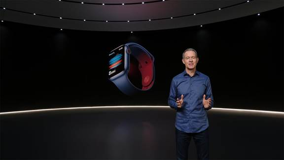 Apple's blood sensor feature being announced at Apple event 2020