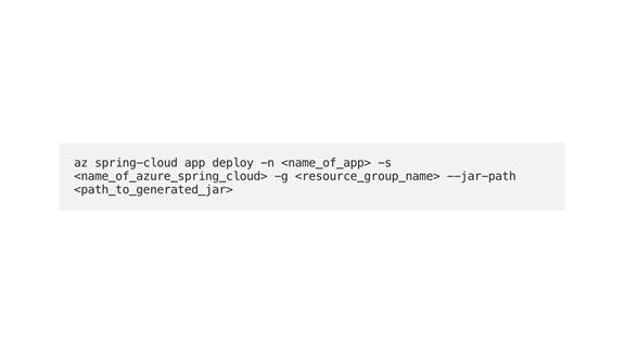 azure spring cloud app deploy