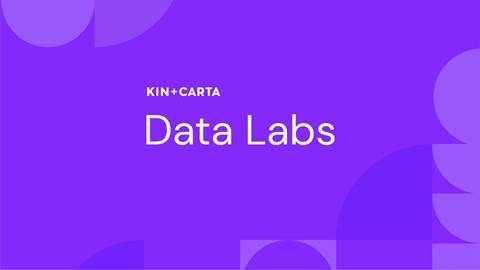 Data labs title with color background