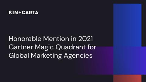 Kin + Carta gets honorable mention in Gartner Magic Quadrant