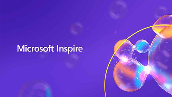 Microsoft inspire event abstract visual ID