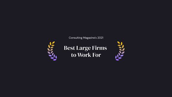 Consulting Magazine's Best Large Firms to Work For
