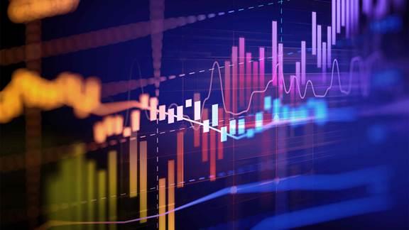 Bar graph and line graph ascending