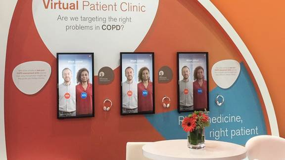 GSK Virtual Patient Clinic interactive screens