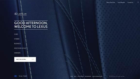 Lexus Desktop View