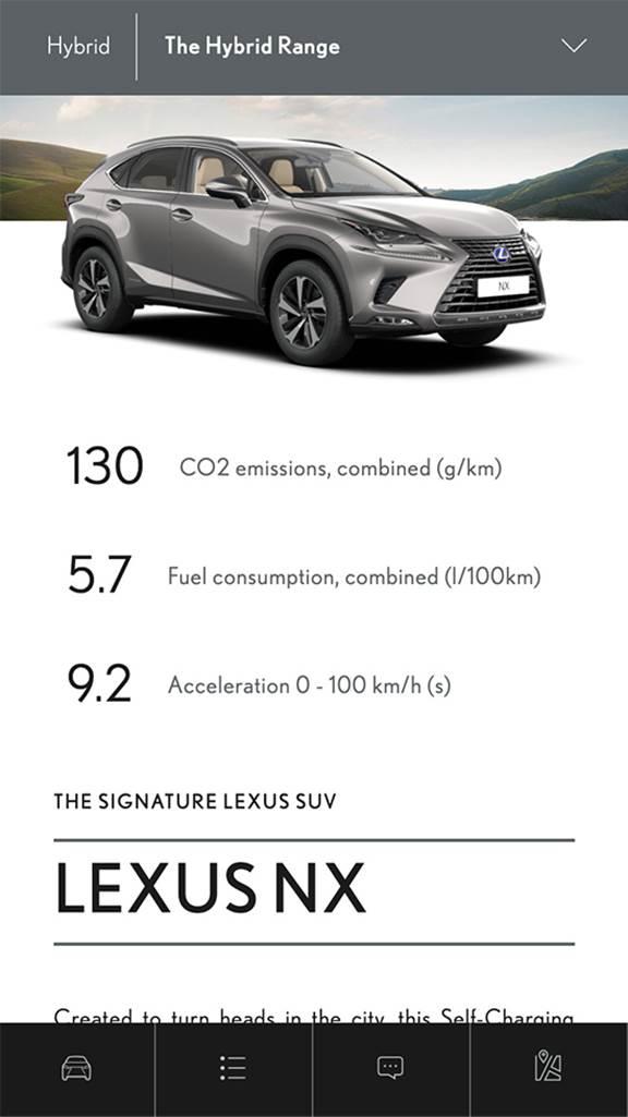Lexus mobile screenshot 2