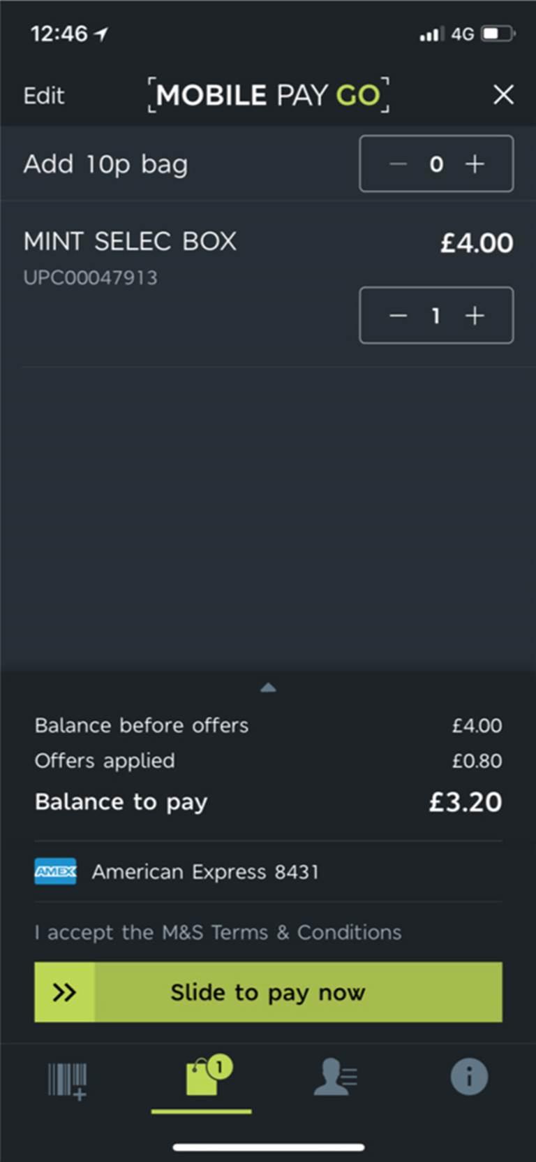 M&S Mobile Pay Go App Development