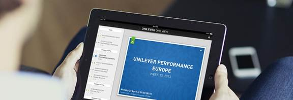 Unilever oneview mock up