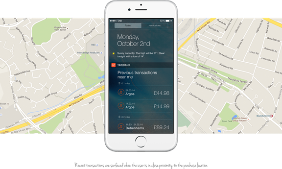 Transactions via location